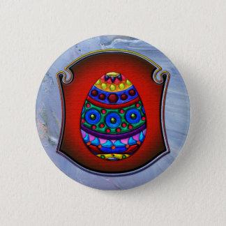 Framed Fancy Colorful Egg Button