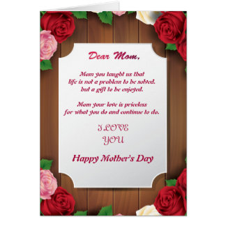 Framed Floral Mother's Day Greeting Card