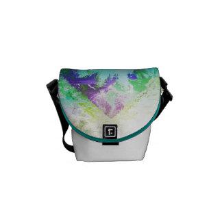 Framed Flower Muddle Courier Bag