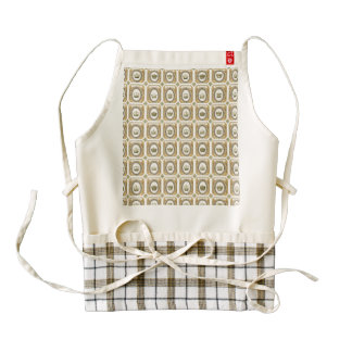 Framed French Crowns Zazzle HEART Apron