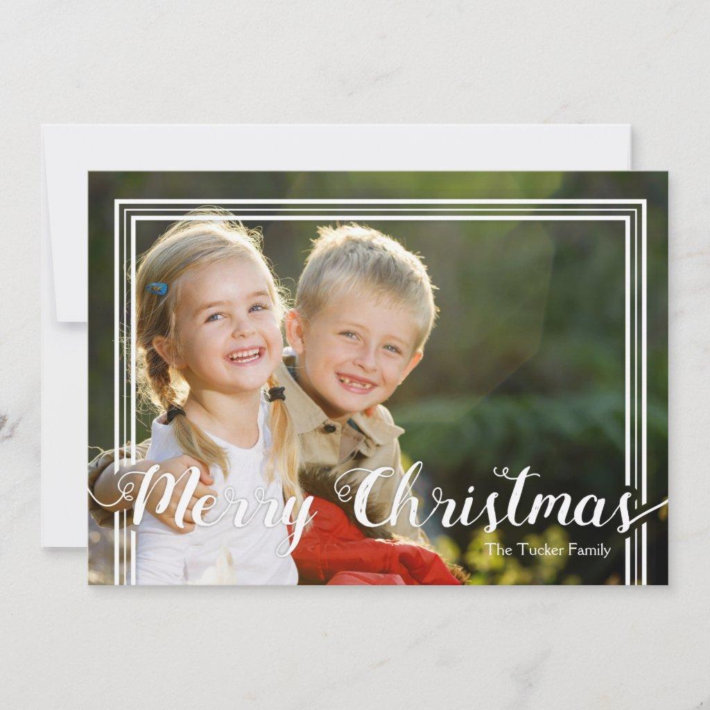 Framed Full Photo Christmas Card