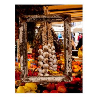 Framed Garlic Postcard