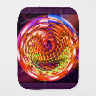 Framed glass spiral burp cloth