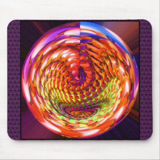 Framed glass spiral mouse pad