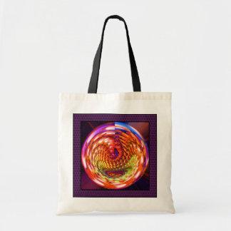 Framed glass spiral tote bag