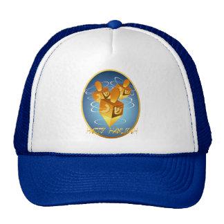 Framed Happy Hanukkah Dreidels Hat