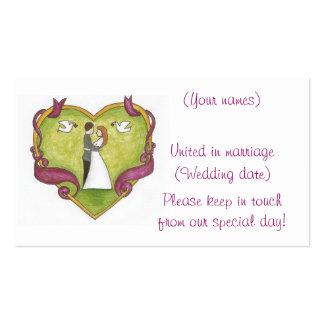 Framed Heart Couple/Wedding Profile Card