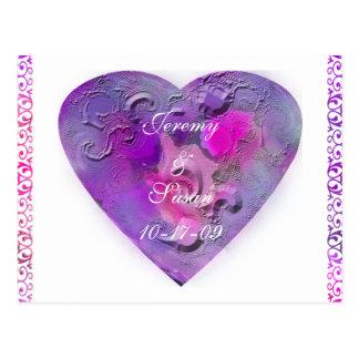 Framed Heart Postcard