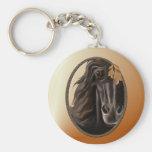 Framed Horse Face Keychain