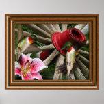 'Framed' Hummingbirds Print