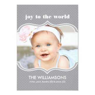 Framed in Slate Double Sided Holiday Photo Card
