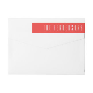 Framed Joy   Wrap around return address label