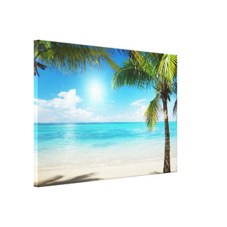 Framed Large Canvas art Print Beach Ready to hang