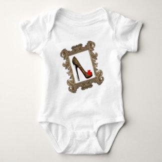 Framed Leopard Stiletto Pump Baby Bodysuit