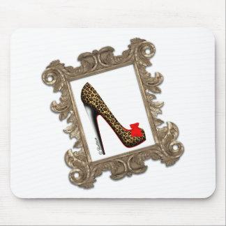Framed Leopard Stiletto Pump Mousepad