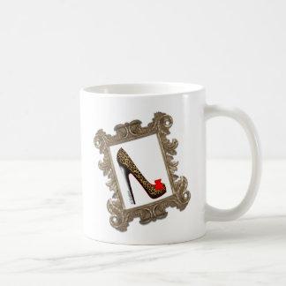 Framed Leopard Stiletto Pump Classic White Coffee Mug