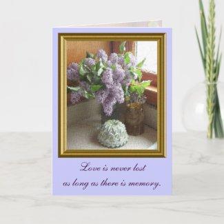 Framed Lilacs Sympathy Card card
