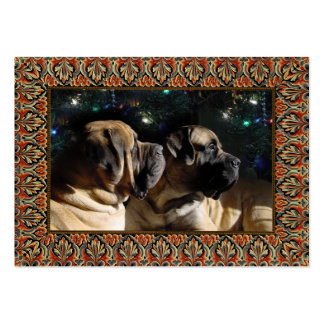 Framed Mastiff Pair Gift Tag Business Card