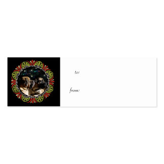 Framed Mastiff Pair Gift Tag Business Cards
