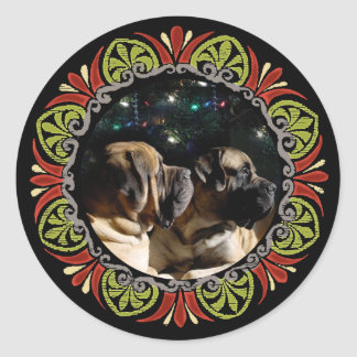 Framed Mastiff Pair Sticker
