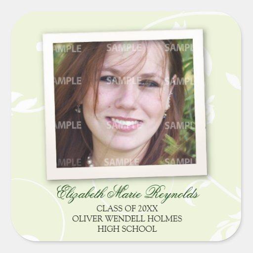 Framed Memories Graduation Square Sticker