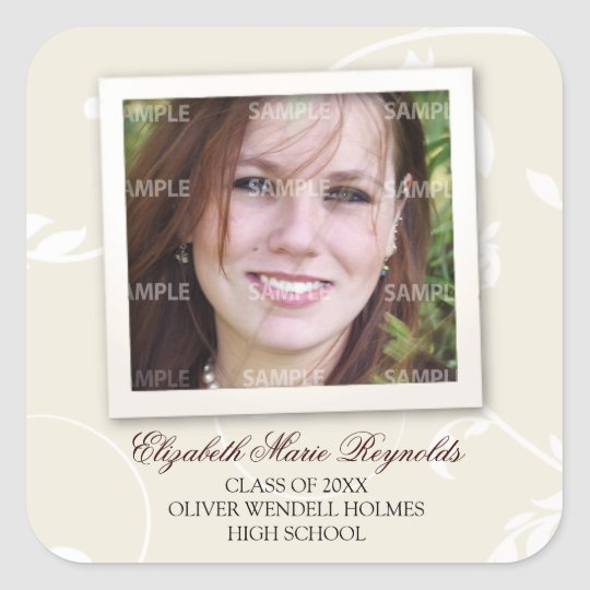 Framed Memories Graduation Square Sticker