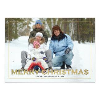Framed Merry Christmas Photo Holiday Card