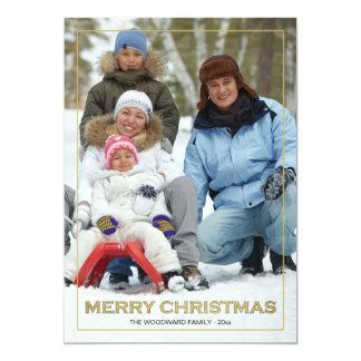 Framed Merry Christmas (V) Photo Holiday Card