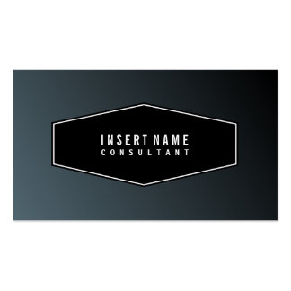 Framed Modern Minimalist Cadet Plain Business Card