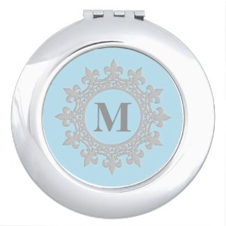 Framed Monogram Compact Mirror