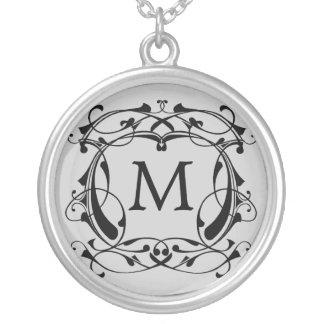 Framed Monogram Necklace