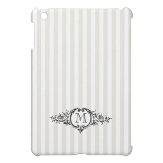 Framed Monogram On Stripes Cover For The iPad Mini