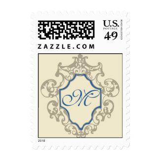 Framed Monogram Postage Stamps
