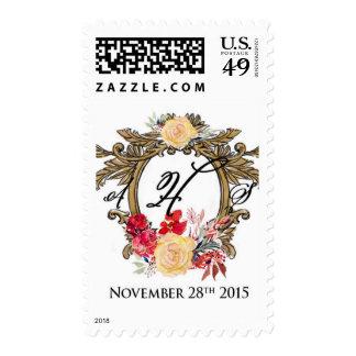 Framed Monogram Wedding Stamp