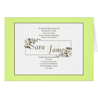Framed Names Card