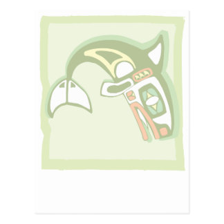 Framed Orca Postcard