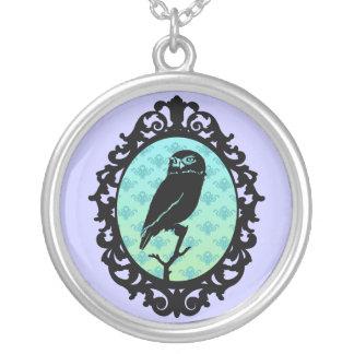 Framed Owl Illustrated Necklace