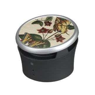 Framed Painting of Butterflies and Flowers Speaker