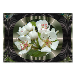 Framed Pear flowers ~ ATC card Large Business Cards (Pack Of 100)