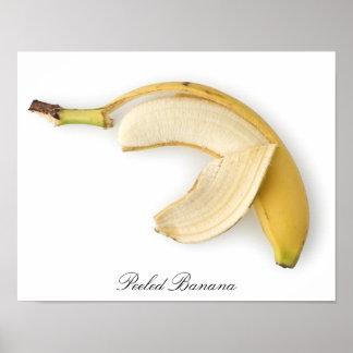 Framed Peeled Banana Poster