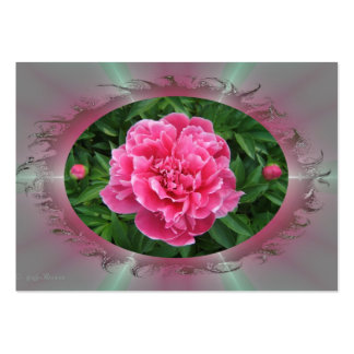 Framed Peony ~ ATC Large Business Cards (Pack Of 100)