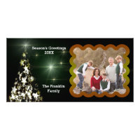 Framed Photo Star Christmas Tree & Night Sky Card Photo Card
