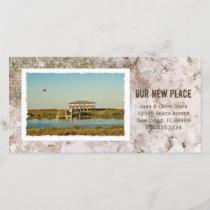 Framed Photograph Custom Beach New Address Announcement
