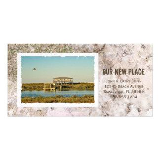 Framed Photograph Custom Beach New Address Card