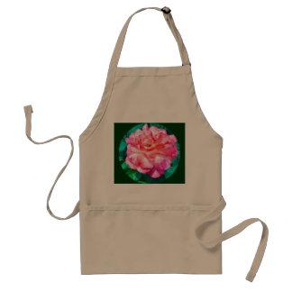 Framed Pink Rose Adult Apron