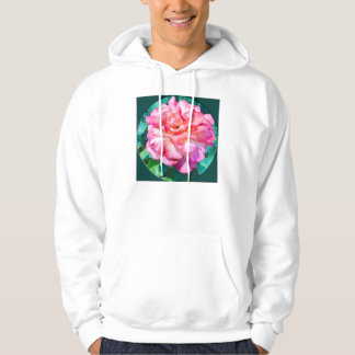 Framed Pink Rose Hoodie