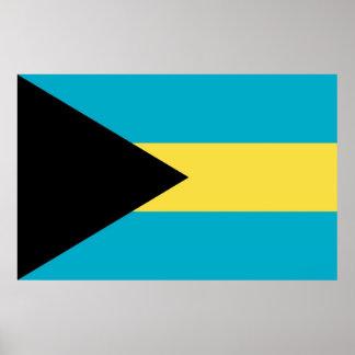Framed print with Flag of Bahamas