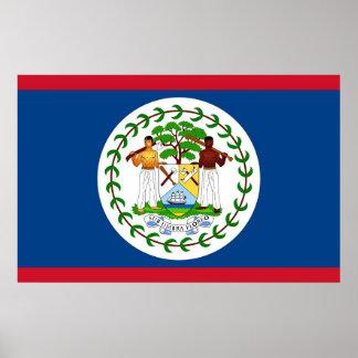 Framed print with Flag of Belize