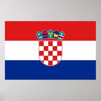 Framed print with Flag of Croatia