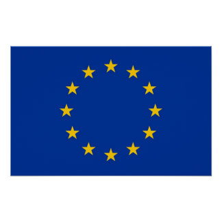 Framed print with Flag of European Union